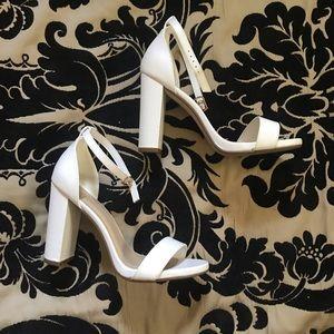 BRAND NEW white heels.